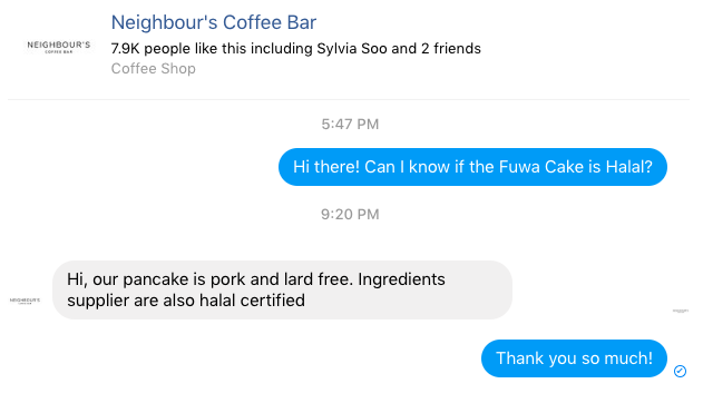 Fuwa Fuwa Pancake Neighbour's Coffee Bar Curitan Aqalili