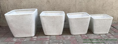 marble white square planter