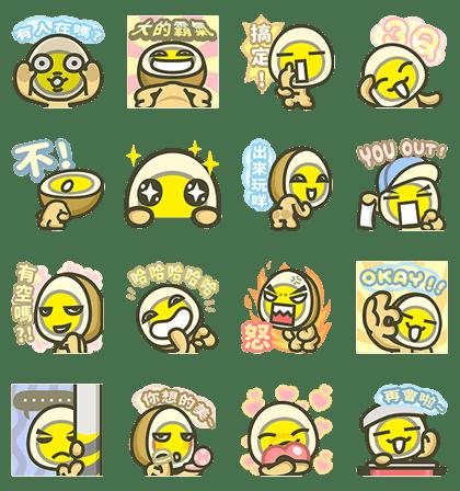 MILUEGG Pop-Up Stickers