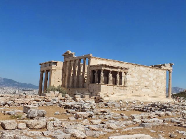 las cariátides en Atenas