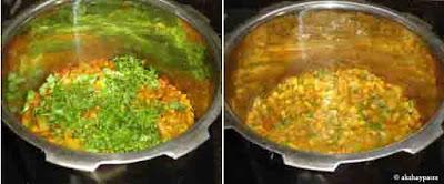 add cilantro and mix