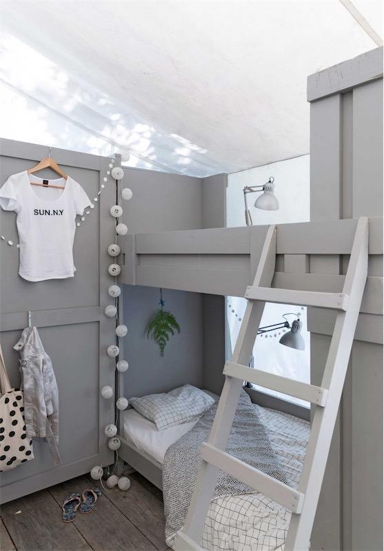 dormir en literas en una cabaña chicanddeco