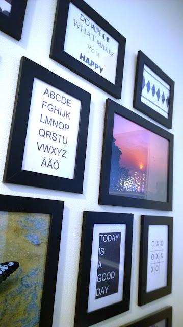 Saippuakuplia olohuoneessa- blogi, kuva Hanna Poikkilehto, Diy, askartelu, sisustus taulu,