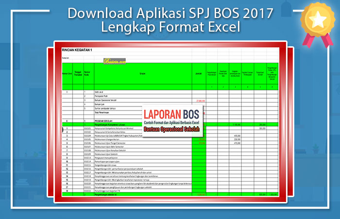 Aplikasi SPJ BOS 2017 Excel