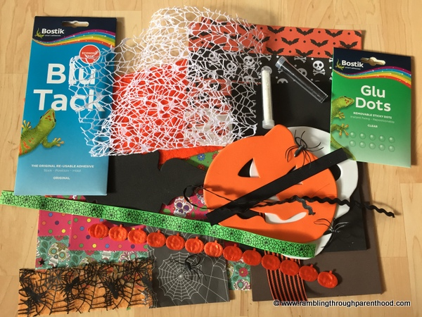 Halloween-themed Bostik craft box