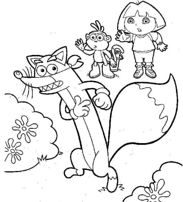 Mewarnai Swiper Si Pencuri Dalam Serial Kartun Dora The Explorer