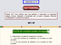 http://reglasdeortografia.com/comillas02.html