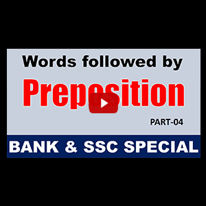 Preposition | Different Words With Their Appropriate Preposition | Part 4 | All Competitive Exams