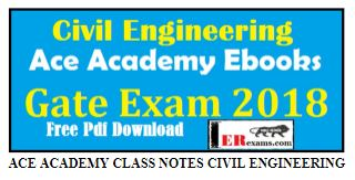 ACE ACADEMY CLASS NOTES CIVIL ENGINEERING PDF Download