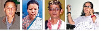 NB Khawash, Sharda Rai Subba and Milan Dukpa, Shanta Chhetri