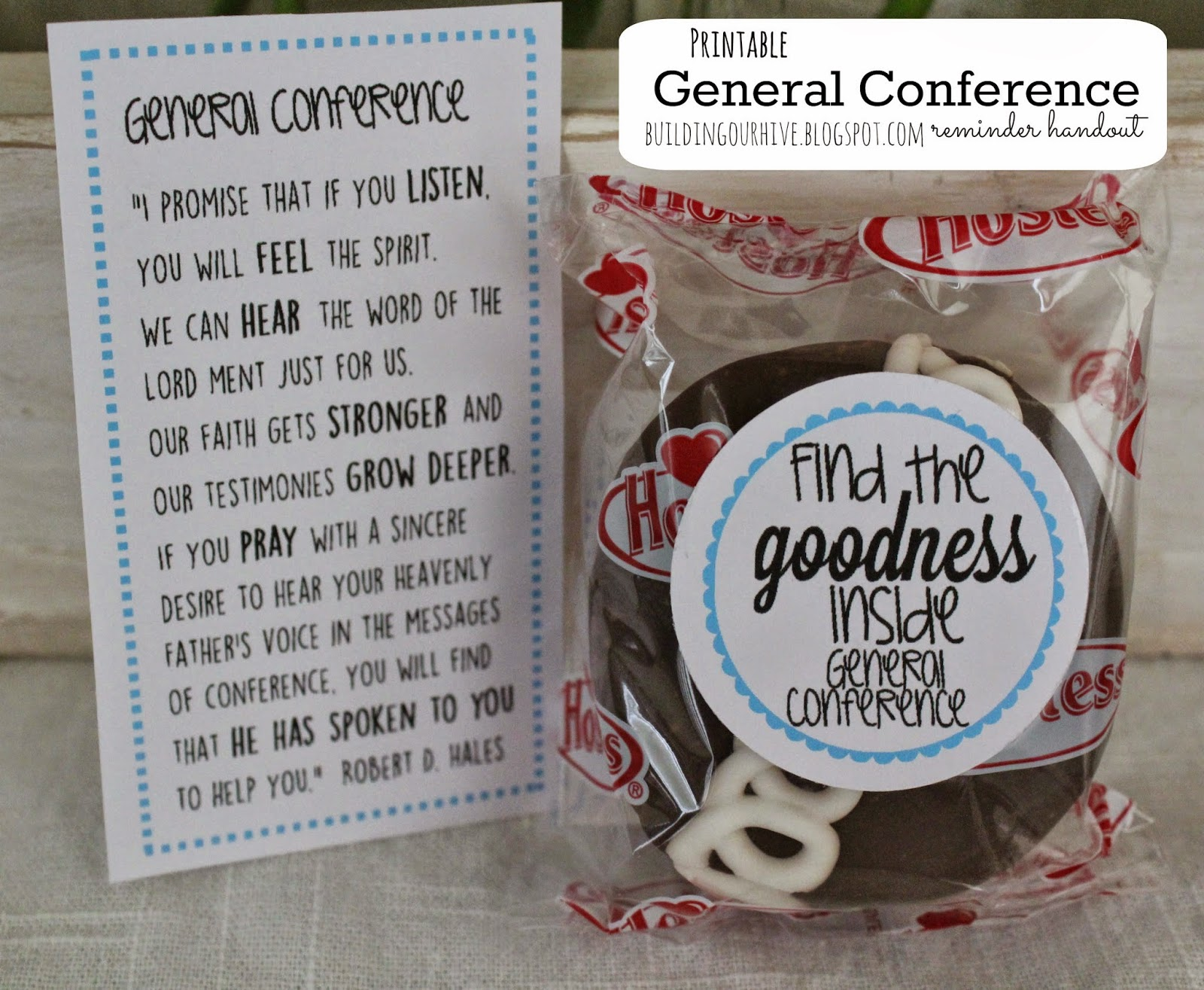 Building Our Hive General Conference Printable Reminder