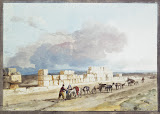 The Ruins of the Temple of Jupiter to the East of the Harbour of Marsa Scirocco on Malta by Jean-Pierre-Laurent Houel - Landscape Drawings from Hermitage Museum