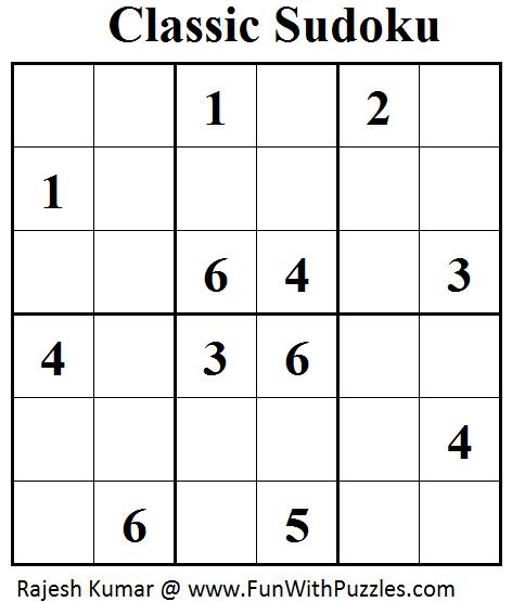 Classic Sudoku (Mini Sudoku Series #49)