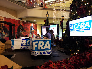 CFRA Christmas exchange broadcast from a local mall