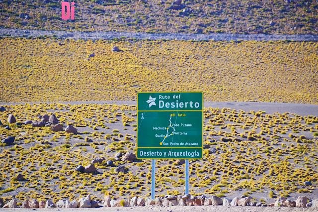 A linda Rota do Deserto do Atacama