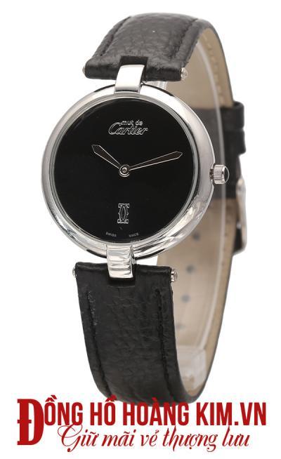 mua đồng hồ nữ dây da cartier