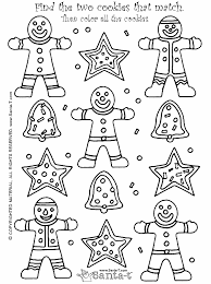 Christmas Cookie Coloring Page 3