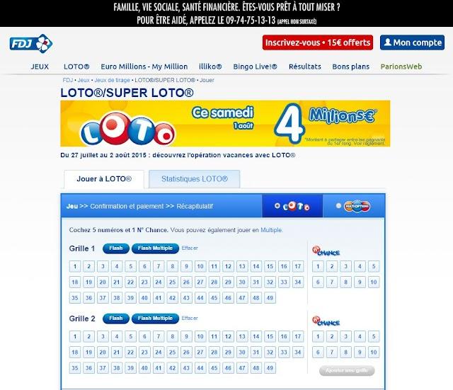 (Argent) On peut jouer au Loto ou à Euro Millions
