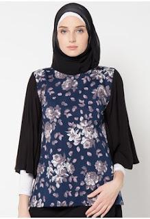 Model Batik Muslim Kerja Berhijab
