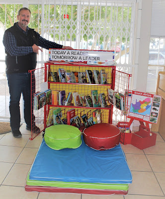 Our General Manager, Deon de Waal, posing with the Reading Trolley and Reading Corner Set