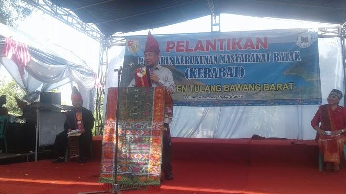 Pelantikan Kepeguruan  Kerukunan Masyarakat Batak (KERABAT) di Balai Desa Pulung Kencana