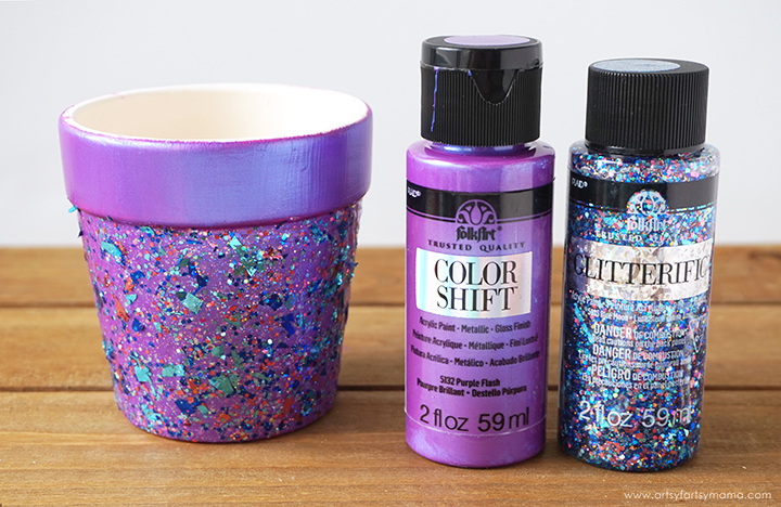 DIY Glitter Flower Pots
