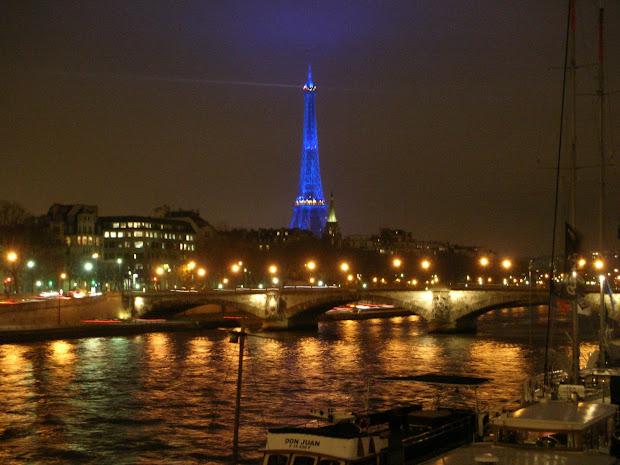 Paris at Night Landscape