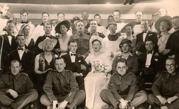 A womanless wedding at Stalag XXIA (Copyright Michael Turnbull)