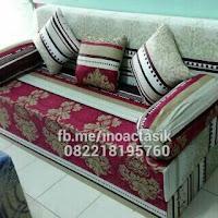 Sofa bed Inoac motif bunga maroon inoactasik