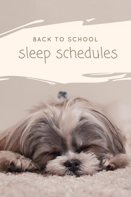 Sleep Schedules are important for Back to School