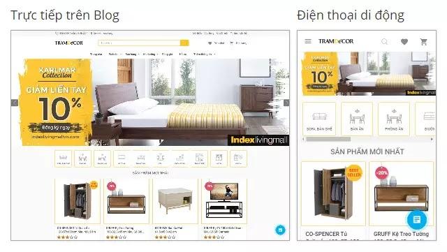 Theme blogspot bán hàng nội thất đẹp chuẩn seo