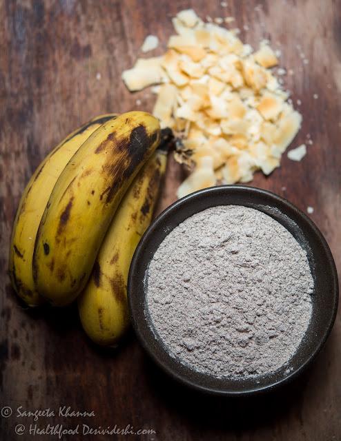banana millet poffertjes