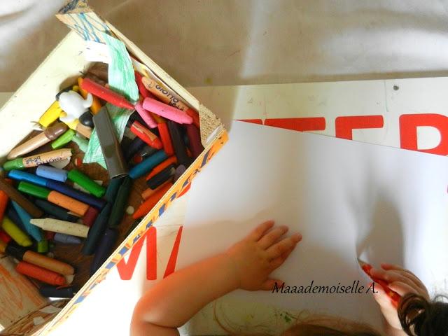 || Nos cadeaux pour la fête des pères ; Coeur en coloriage