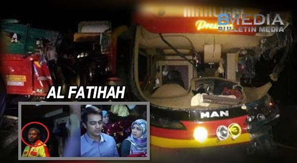 Pemandu Bas Mahligai yang dinaiki Mira Filzah dan Aliff Aziz maut kemalangan (10 Gambar)