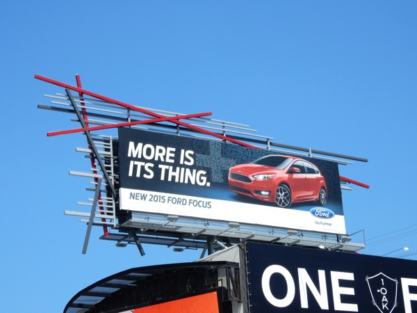 Ford Focus More is its thing billboard