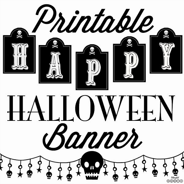 This is a photo of Halloween Banner Printable for high resolution