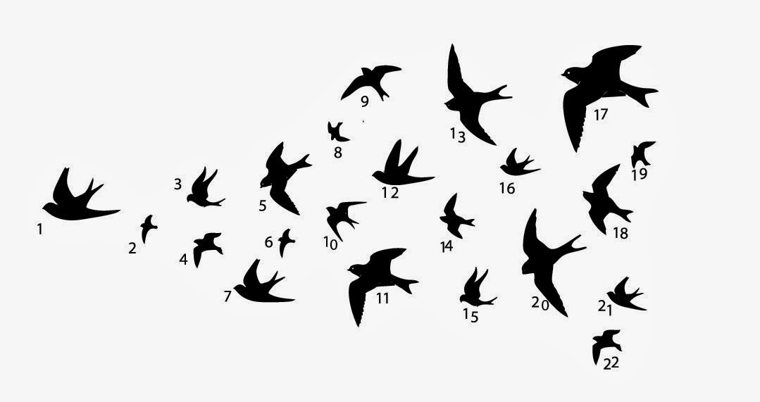 Flying Swallow Wall Decor