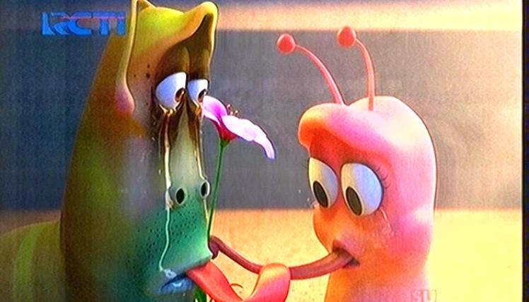 Film Kartun Larva Ulat Serangga Jatuh Cinta Hurufba