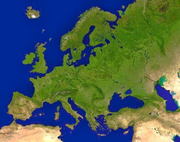 Cartina Fisica Europa Grande.Imparare Con La Geografia 7 Il Rilievo In Europa