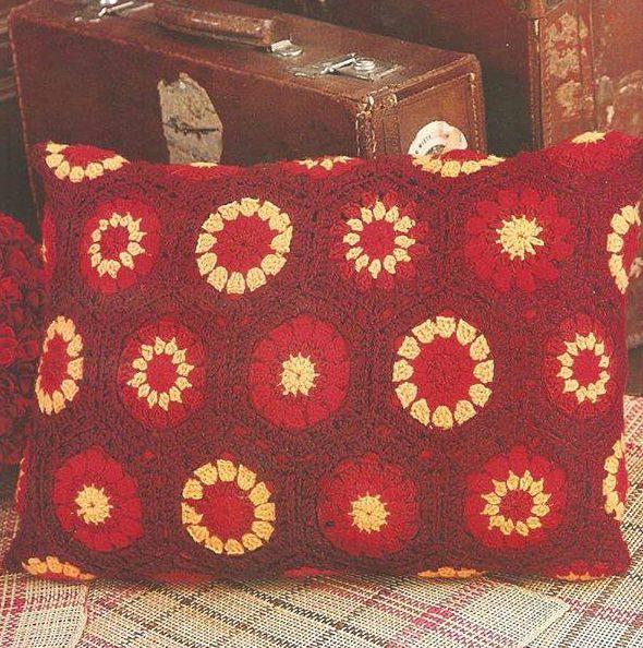 Patrón #1295: Almohada Rectangular a crochet