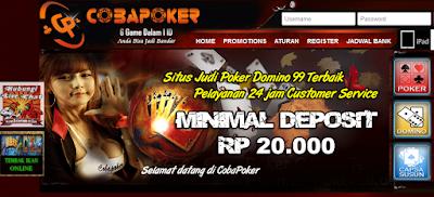 Cobapk.Com Agen Poker | Poker Online | Bandar QQ | Dewa Poker Terpercaya Terbaru Terbaik di Indonesia