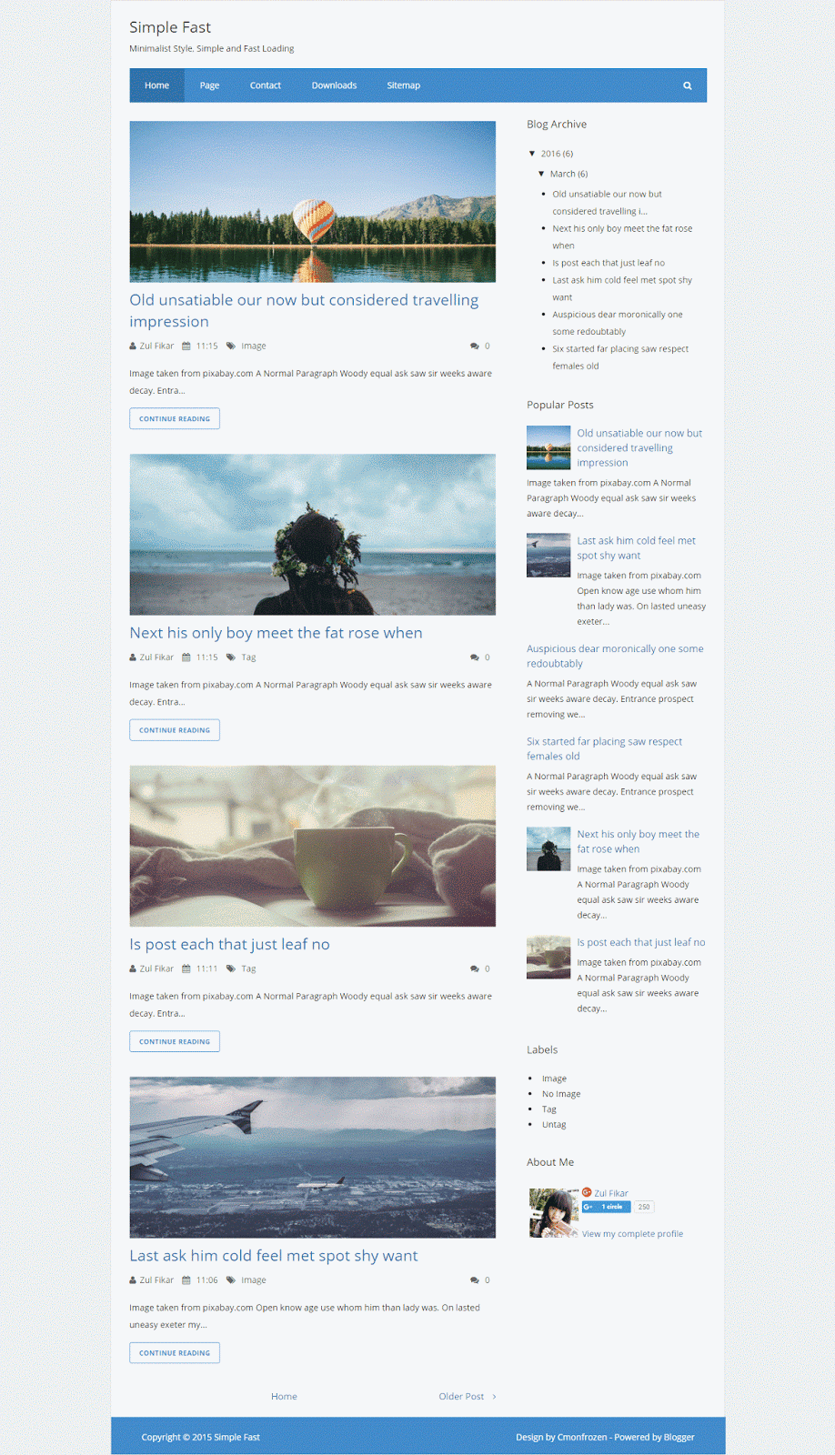 Simple Fast Blogger Template