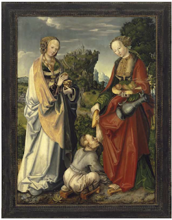"Lucas Cranach the Elder: ""Jüngstes Gericht, heilige Elisabeth  und heilige Magdalena"", 1519. Collection of the Veste Coburg."
