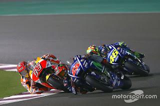 Hasil Latihan Bebas FP4 MotoGP Aragon: Vinales Tercepat, Rossi Ke-16.