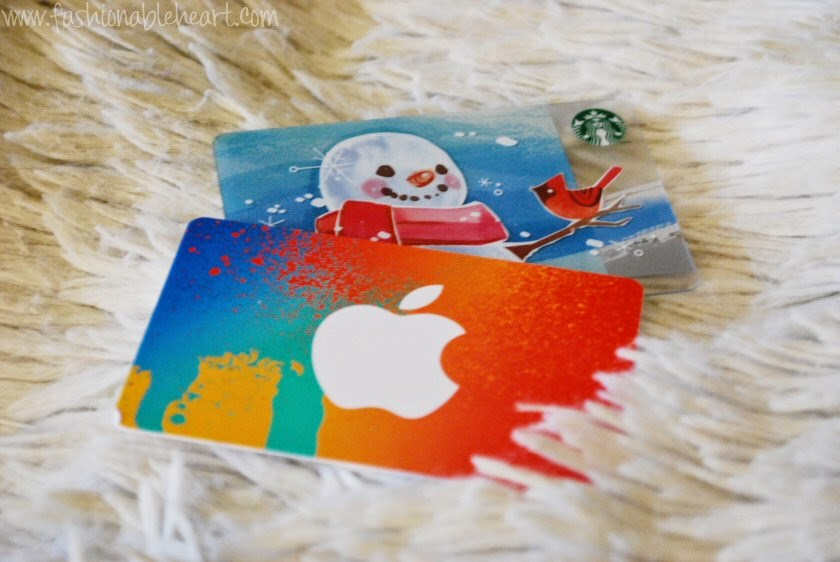 christmas gifts giftcards itunes starbucks
