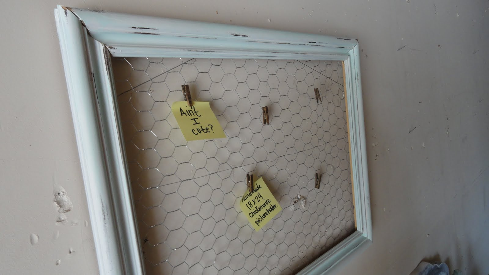 Do It Yourself Home Wiring: Home By Ally: DIY: Do It Yourself Chicken Wire Picture Frame