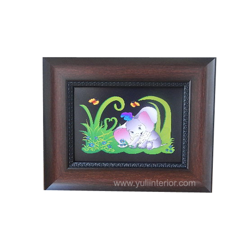 5x7 Kids Decor Elephant Brown Wall Frame Nigeria