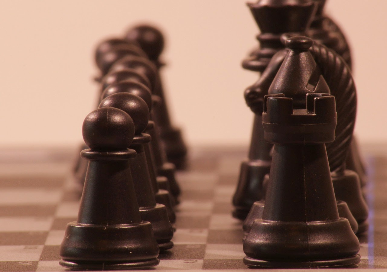 ajedrez piezas negras