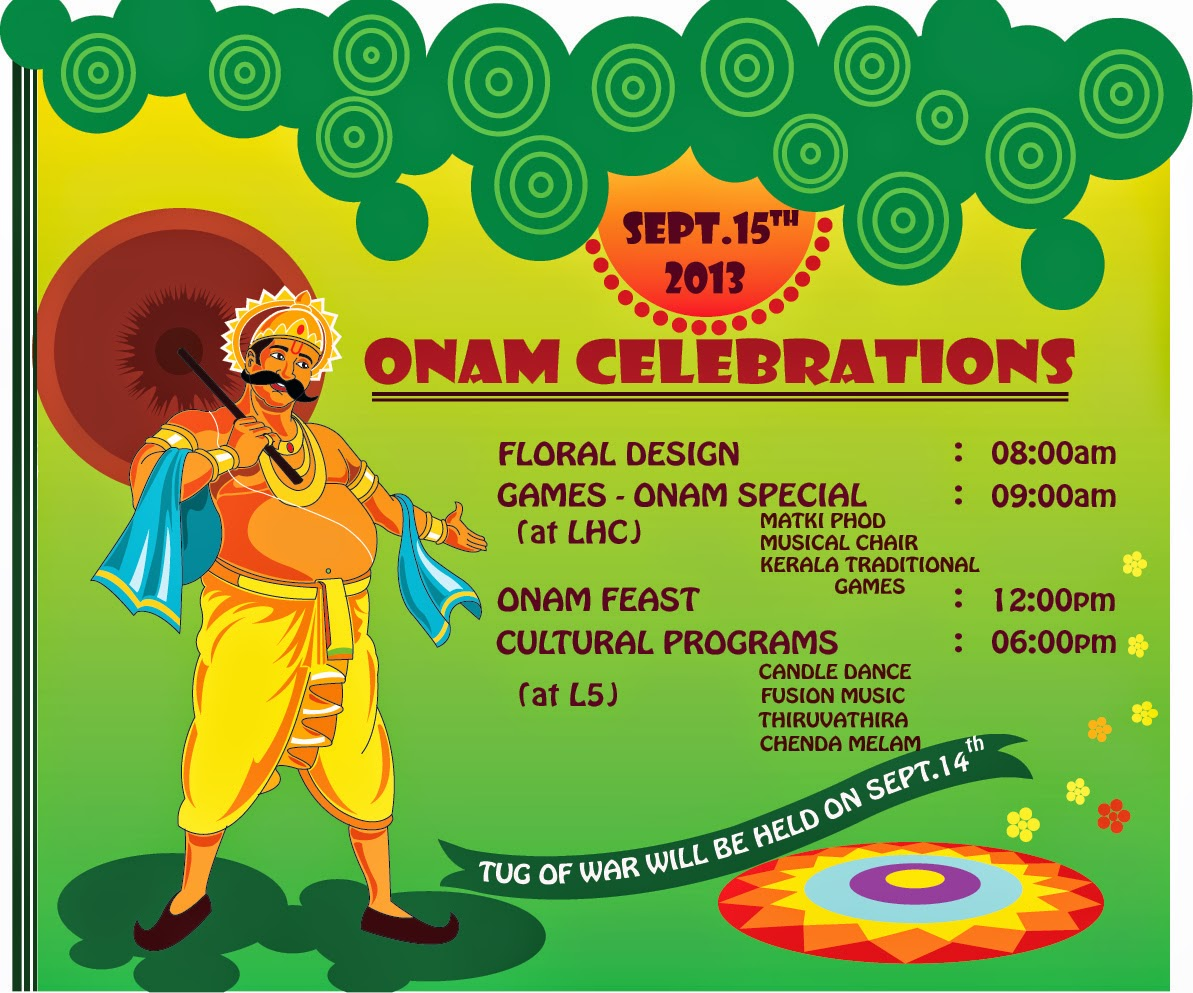 This Is The Posters And Invitation Card Designed By Me For Onam Celebration In My College Iiser Bhopal