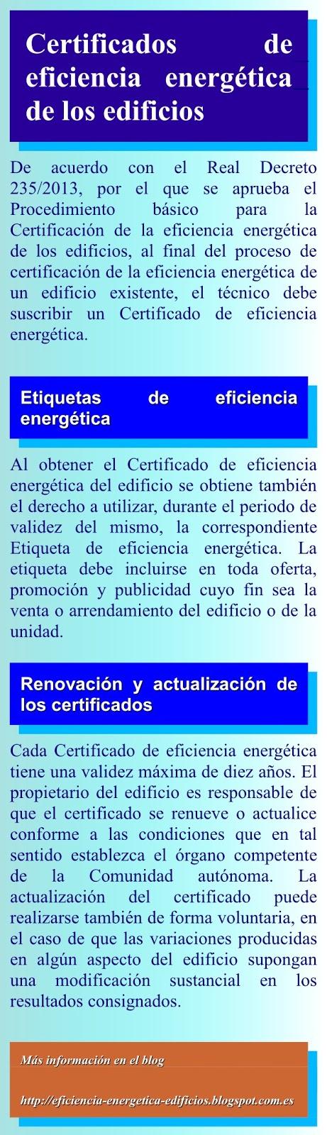 Certificados energéticos de edificios